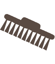 Hard-Wearing Scrub Brush Icon